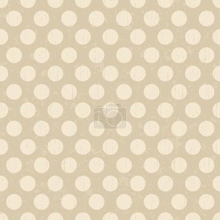 Seamless retro dots pattern background