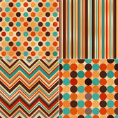 Seamless retro stripes and polka pattern