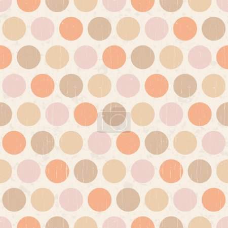 Seamless grunge circles polka dots background texture