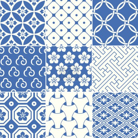Illustration for Vintage japanese traditional pattern - Royalty Free Image