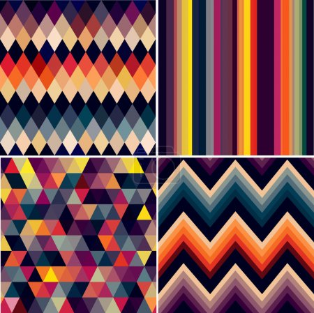 Colorful seamless argyle and geometric pattern