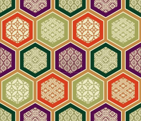 Illustration for Seamless traditional japanese pattern - Royalty Free Image