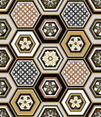 Seamless japanese interlocking pattern