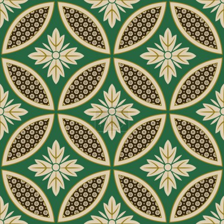 Seamless japanese interlocking circles pattern
