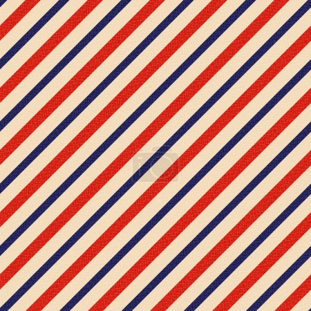 Illustration for Seamless patriotic stripes background - Royalty Free Image