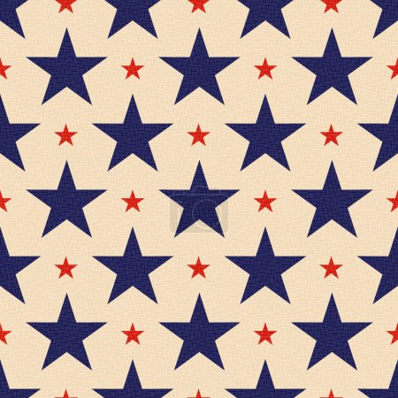 Illustration for Seamless patriotic stars background - Royalty Free Image