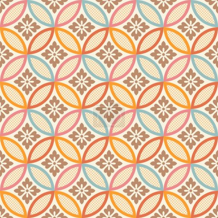 Illustration for Seamless chinese style fabric pattern - Royalty Free Image