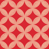 Seamless japanese circles geometric pattern