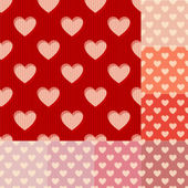 Seamless red orange and pink heart background pattern