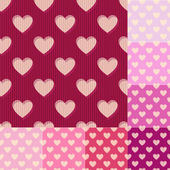Seamless red pink heart background pattern