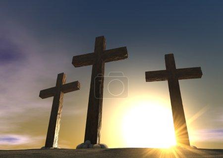 The Crucifixion Close