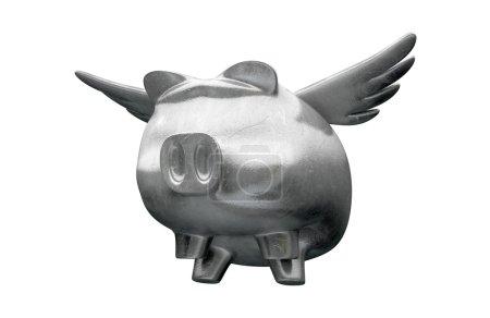 Pig Flying Metal Charm