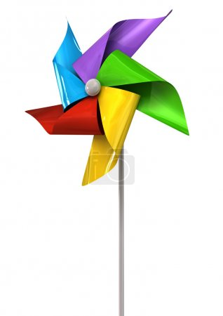 Colorful Pinwheel Perspective