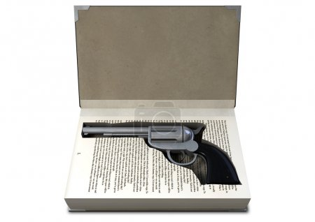 Gun Concealed In A Book