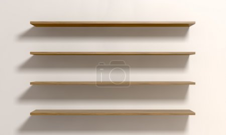 Four Shelves On A Wall