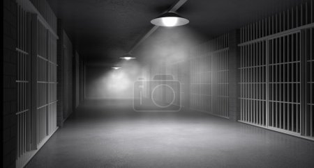 Haunted Jail Corridor And Cells