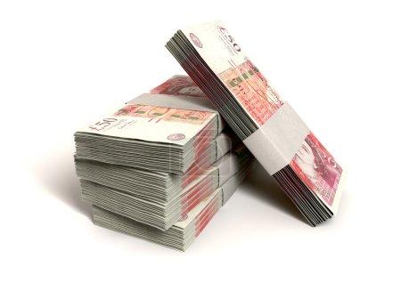 British One Hundred Pound Notes Bundles