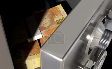 Open Safe With South African Rands