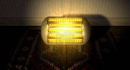 Vintage Heater On Persian Carpet