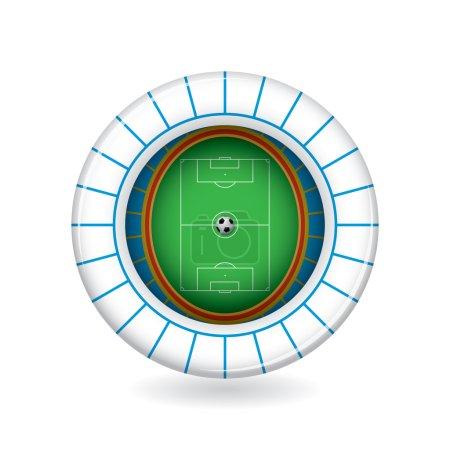 Vector soccer stadium icon. 3d