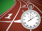 Start Track With Stopwatch Lines On Running Track