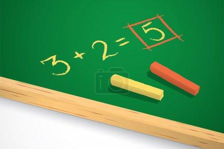 Green chalkboard. Scholboard vector illustration