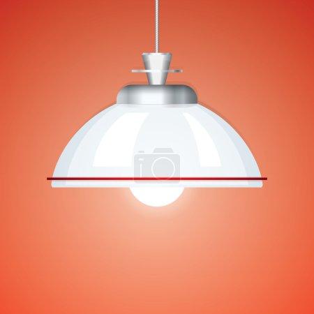 Classic Chandelier Vector Illustration. Lamp