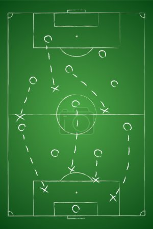 Soccer tactic table. Defensive