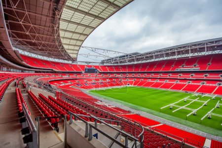 Internal shot of the new Wembley Stadium