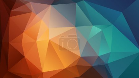 Photo for Abstract colorful geometric wallpaper consists of triangles - Royalty Free Image