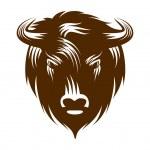 Illustration of buffalo head isolated on white bac...