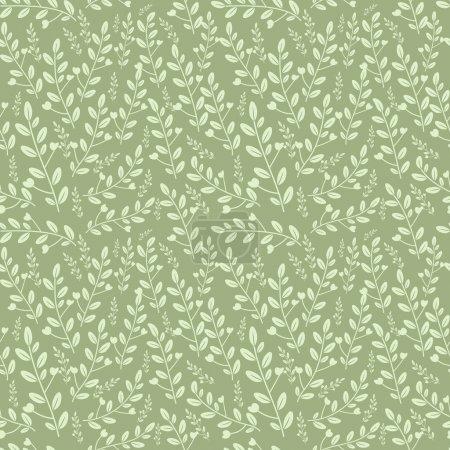 Illustration pour Modèle de feuillage sans couture pastel colorway - image libre de droit