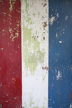 Red White and Blue Peeling Paint
