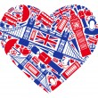 Traditional symbols of London and England in the f...