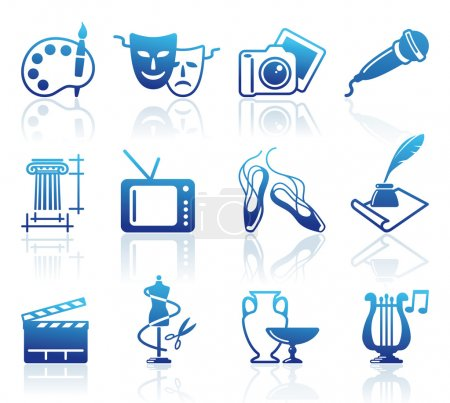 Illustration for Culture and Art vector icons - Royalty Free Image