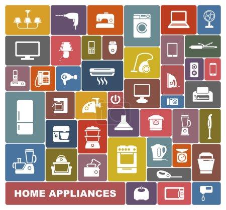 Foto de Conjunto de iconos de diferentes electrodomésticos - Imagen libre de derechos