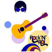 Musical vector  background 60-s