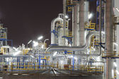Chemical industrial plant in night time