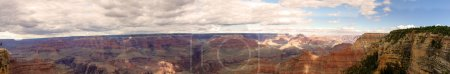 Photo for Grand Canyon National Park South Rim Panoramic Image stitched with clouds - Royalty Free Image