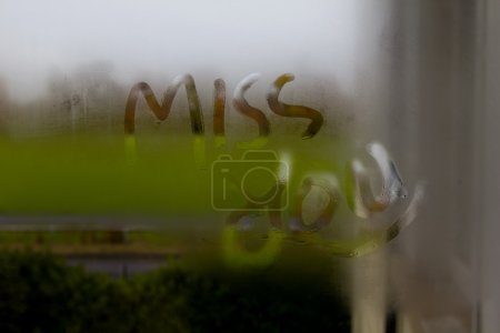 Miss you on frosted glass