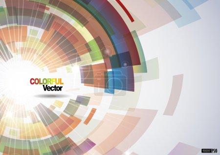 Illustration pour Abstrait coloré. illustration vectorielle. EPS 10. - image libre de droit