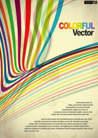 Illustration for Abstract colorful background. Vector illustration. Eps 10. - Royalty Free Image