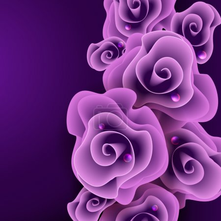 Illustration for Rose. Vector illustration. Eps 10. - Royalty Free Image
