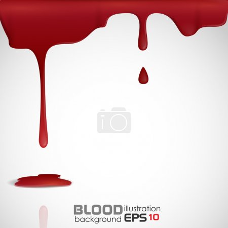 Dripping blood. Vector illustration. Eps 10....