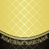 Luxusní pozadí vyzdoben vinobraní ornament: zlatá a černá