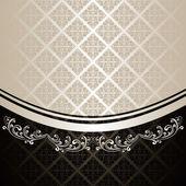Luxusní pozadí vyzdoben vinobraní ornament: stříbro a uhlí
