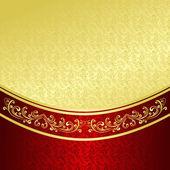 Luxusní pozadí vyzdoben vinobraní ornament: zlato a vínové barvy