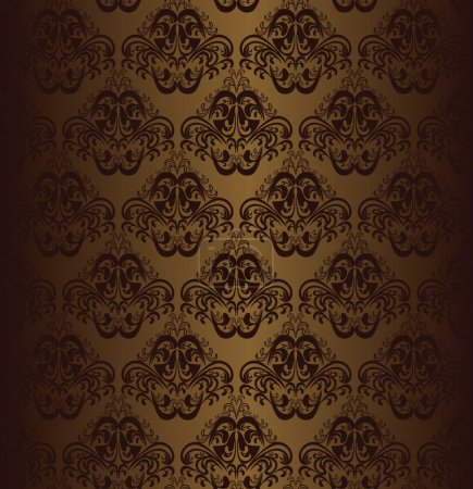 Illustration for On a picture brown seamless wallpaper is presented . - Royalty Free Image