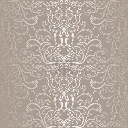 Silver seamless pattern