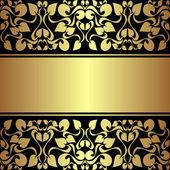 Luxusní dekorativní pozadí zlatou stužkou